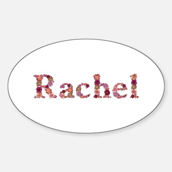 Rachel Pink Flowers Oval Decal