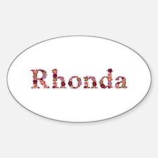 Rhonda Pink Flowers Oval Decal
