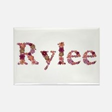 Rylee Pink Flowers Rectangle Magnet