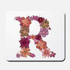 R Pink Flowers Mousepad