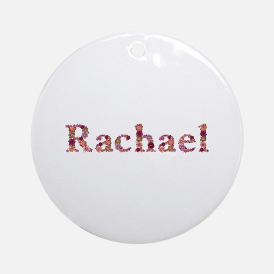 Rachael Pink Flowers Round Ornament