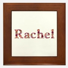 Rachel Pink Flowers Framed Tile