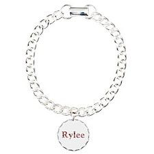 Rylee Pink Flowers Charm Bracelet