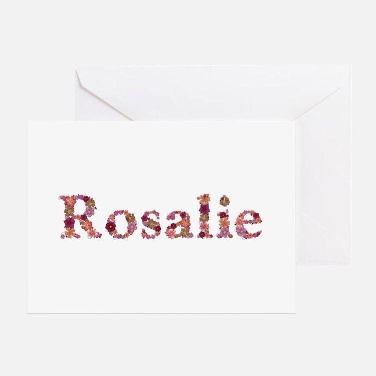 Rosalie Pink Flowers Greeting Card