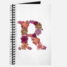 R Pink Flowers Journal