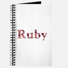 Ruby Pink Flowers Journal