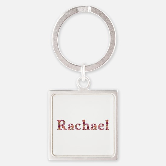 Rachael Pink Flowers Square Keychain