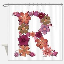 R Pink Flowers Shower Curtain