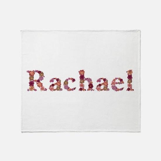 Rachael Pink Flowers Throw Blanket