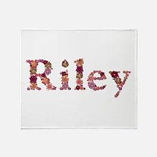 Riley Pink Flowers Throw Blanket