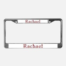 Rachael Pink Flowers License Plate Frame