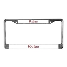 Rylee Pink Flowers License Plate Frame