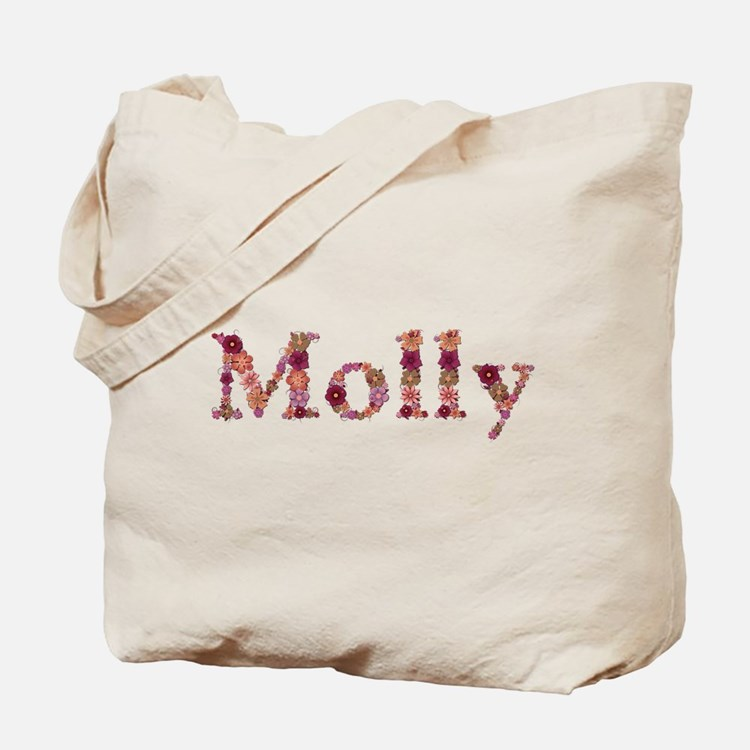 Molly Pink Flowers Tote Bag
