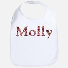 Molly Pink Flowers Bib
