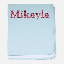 Mikayla Pink Flowers baby blanket