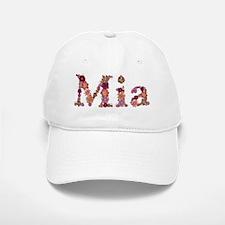 Mia Pink Flowers Baseball Baseball Baseball Cap