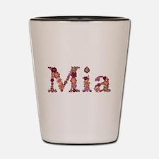 Mia Pink Flowers Shot Glass