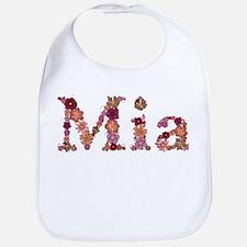 Mia Pink Flowers Bib