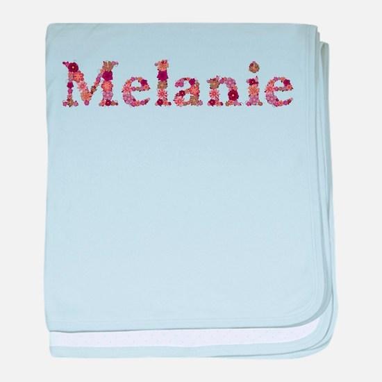 Melanie Pink Flowers baby blanket