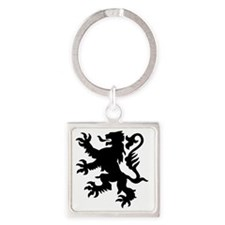 lion Square Keychain