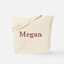 Megan Pink Flowers Tote Bag