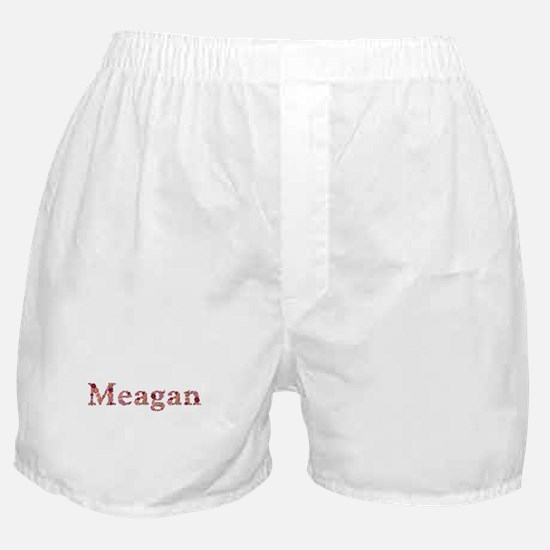 Meagan Pink Flowers Boxer Shorts