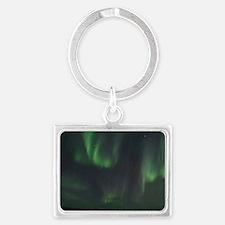 Northern Lights Landscape Keychain