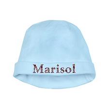 Marisol Pink Flowers baby hat