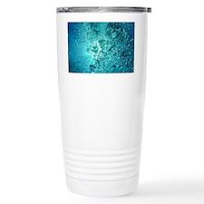 Blue Water Air Bubbles Travel Mug