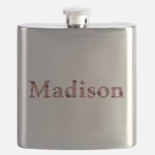 Madison Pink Flowers Flask