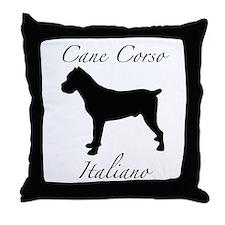 Cute Cane corso italiano Throw Pillow
