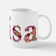 Lisa Pink Flowers Mugs