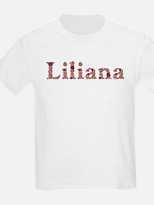 Liliana Pink Flowers T-Shirt