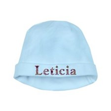 Leticia Pink Flowers baby hat