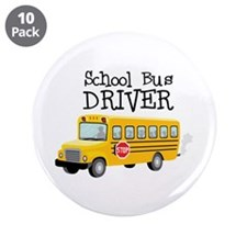 "School Bus Driver 3.5"" Button (10 pack)"