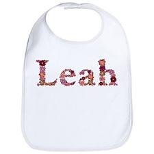 Leah Pink Flowers Bib