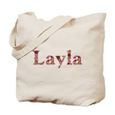 Layla Pink Flowers Tote Bag