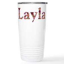 Layla Pink Flowers Travel Mug