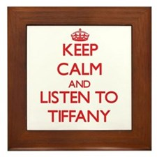 Keep Calm and listen to Tiffany Framed Tile