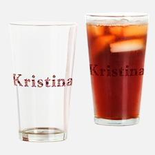 Kristina Pink Flowers Drinking Glass