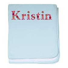 Kristin Pink Flowers baby blanket