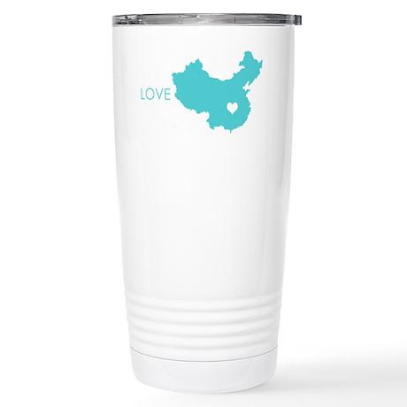 Love Crosses Oceans Stainless Steel Travel Mug