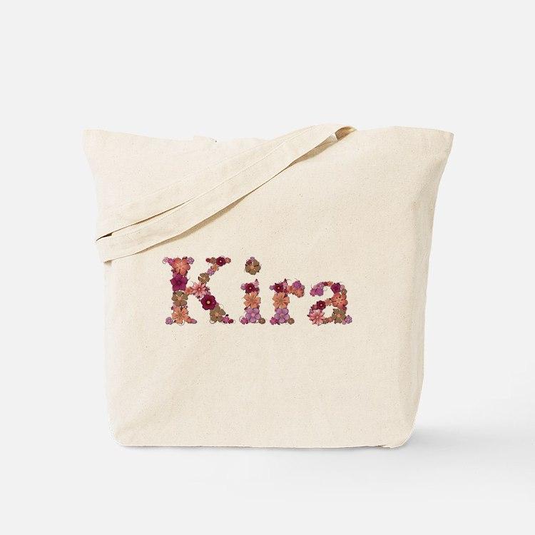 Kira Pink Flowers Tote Bag