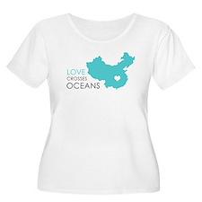 Love Crosses Oceans Plus Size T-Shirt