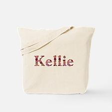 Kellie Pink Flowers Tote Bag