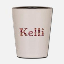 Kelli Pink Flowers Shot Glass