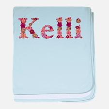 Kelli Pink Flowers baby blanket