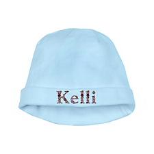 Kelli Pink Flowers baby hat