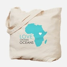 Love Crosses Oceans Tote Bag