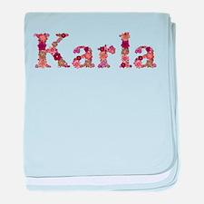 Karla Pink Flowers baby blanket